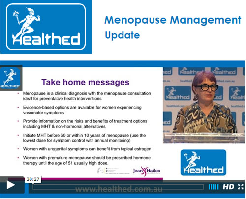 Menopause Management Update Dr Elizabeth Farrell AM