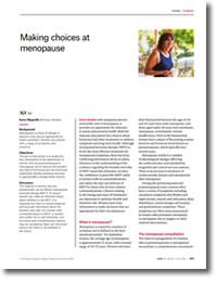Making choices at menopause