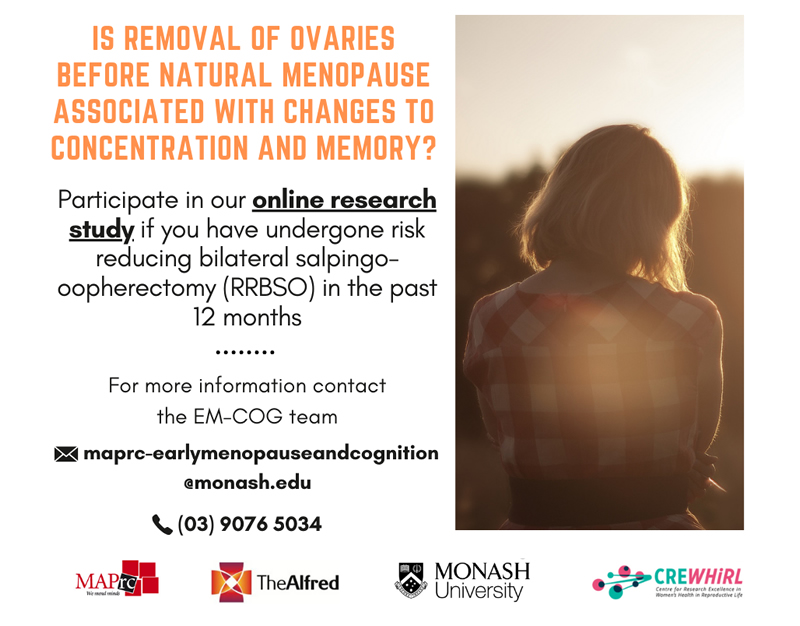 Study: Is removal of ovaries before natural menopause associated with changes to concentration and memory