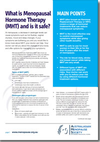 What is MHT and is it safe