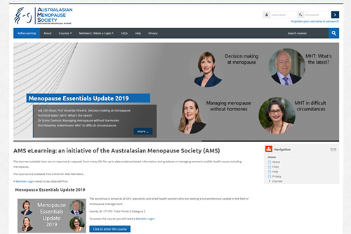 AMS eLearning Website